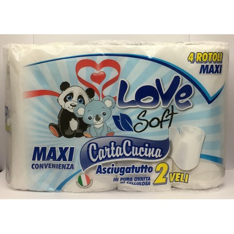 CARTA CUCINA LOVE SOFT X 4...
